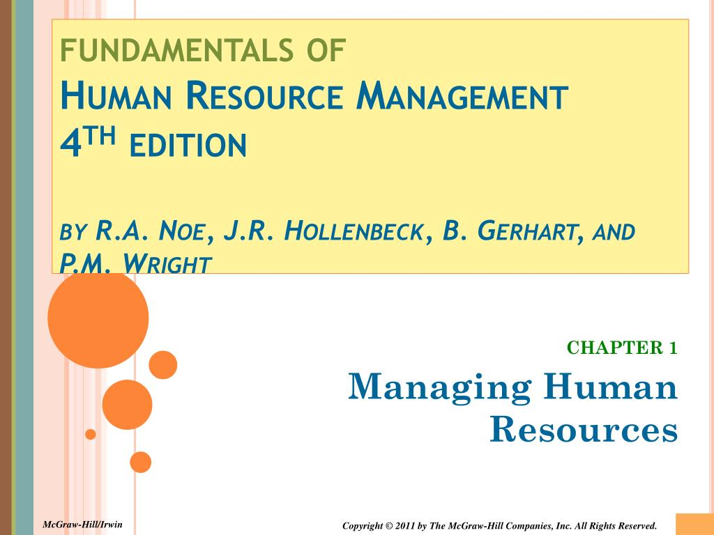 PPT - CHAPTER 1 Managing Human Resources PowerPoint Presentation -  ID:5584363