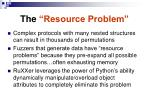 the resource problem