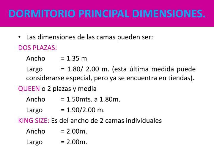 DORMITORIO PRINCIPAL DIMENSIONES.