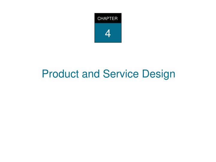 product and services design