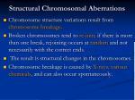 structural chromosomal aberrations