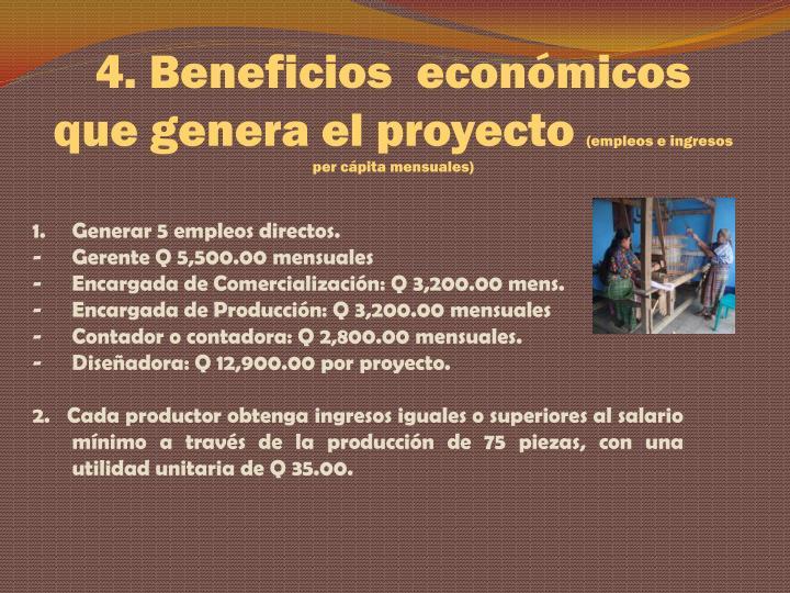 4. Beneficios
