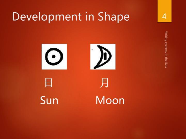 Development in Shape
