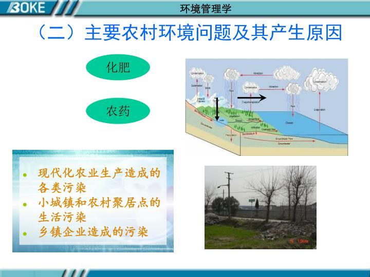 现代化农业生产造成的各类污染