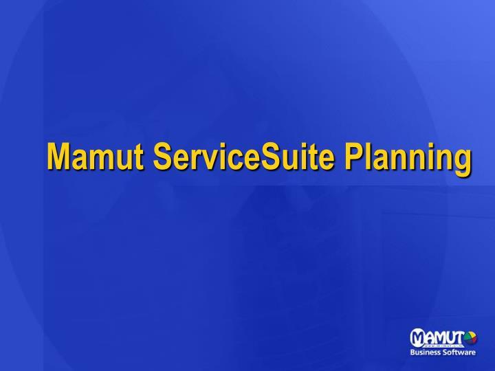 Mamut ServiceSuite Planning