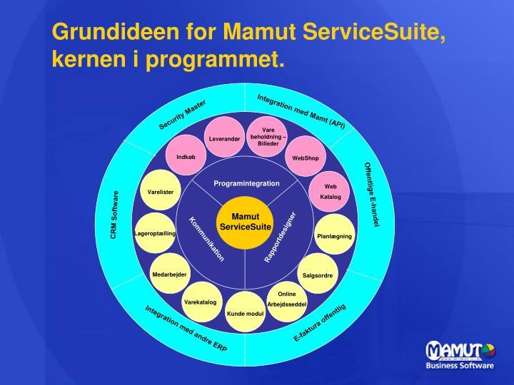 Grundideen for Mamut ServiceSuite, kernen i programmet.