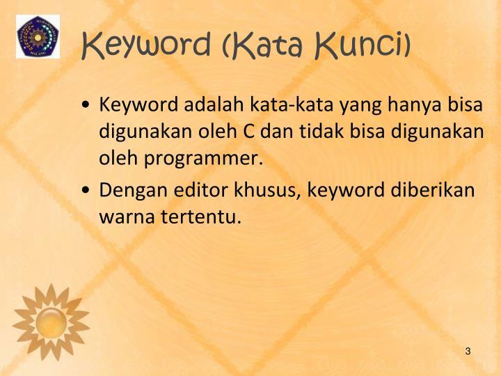 Keyword kata kunci