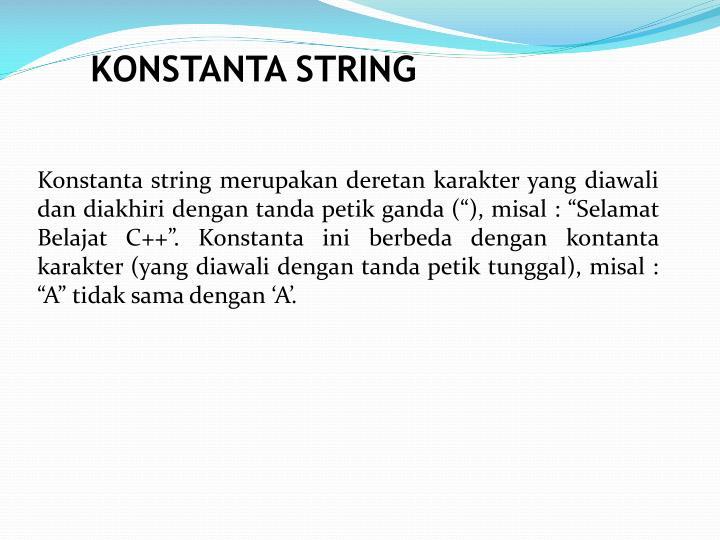 KONSTANTA STRING