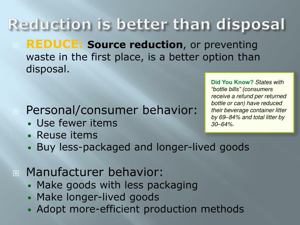 PPT - Waste Generation and Waste Disposal PowerPoint Presentation