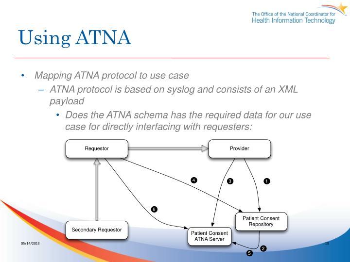 Using ATNA