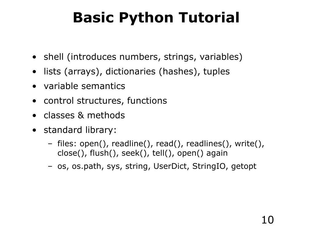 PPT - Programming in Python Part #1 PowerPoint Presentation