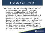 update oct 1 2012