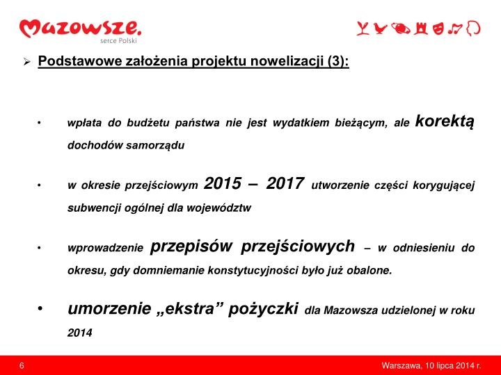 Podstawowe założenia projektu nowelizacji (3):