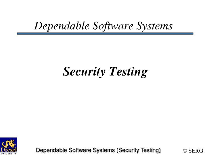dependable software systems security testing n.