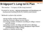 bridgeport s long term plan