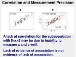 correlation and measurement precision