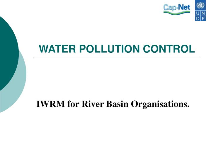 water pollution control n.