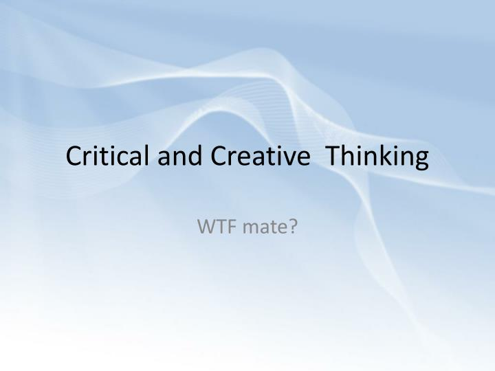 creative thinking process essay