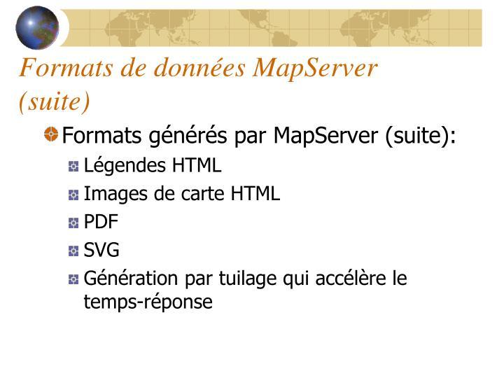 Formats de données MapServer (suite)