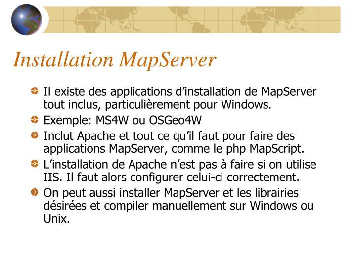Installation MapServer