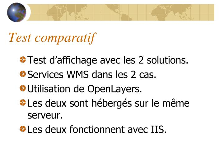 Test comparatif