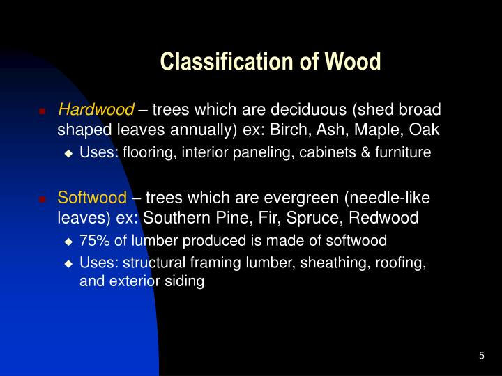 Classification of Wood