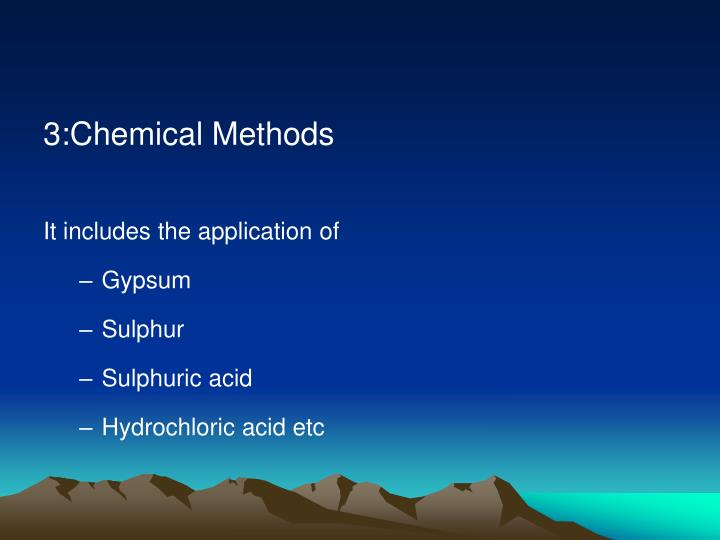 3:Chemical Methods