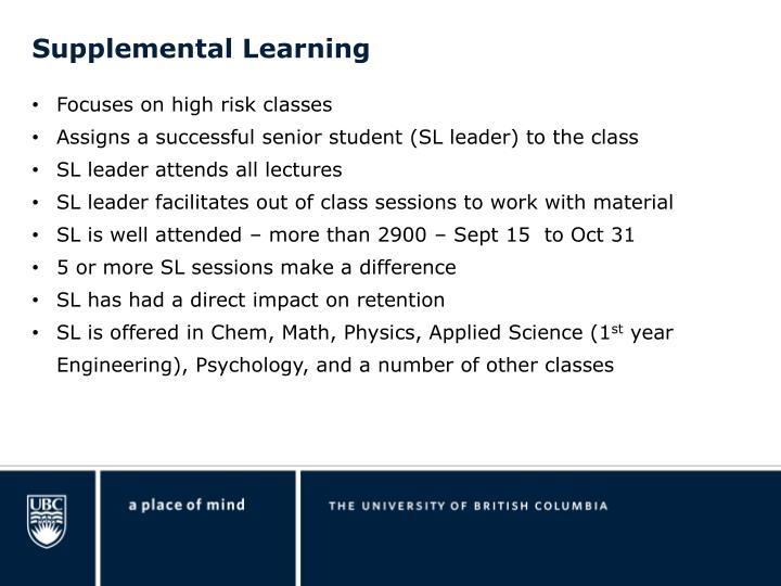 Supplemental Learning