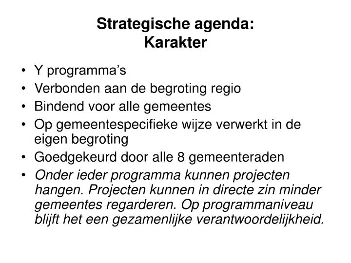 Strategische agenda: