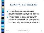 excessive task speed load