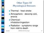 other types of physiological stressors
