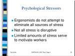 psychological stressors1