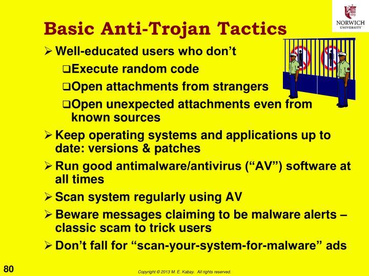 Basic Anti-Trojan Tactics