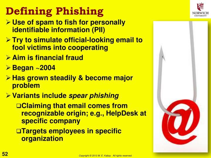 Defining Phishing