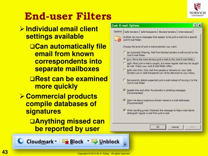End-user Filters
