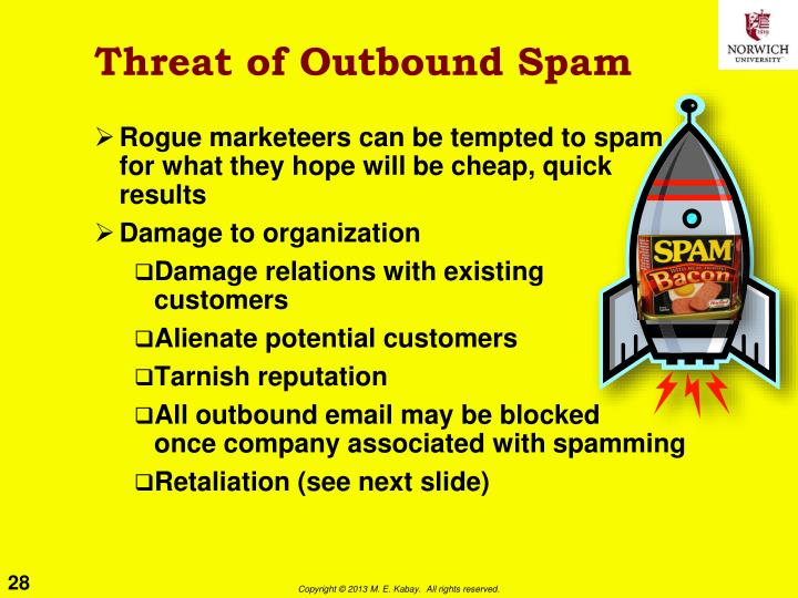 Threat of Outbound Spam