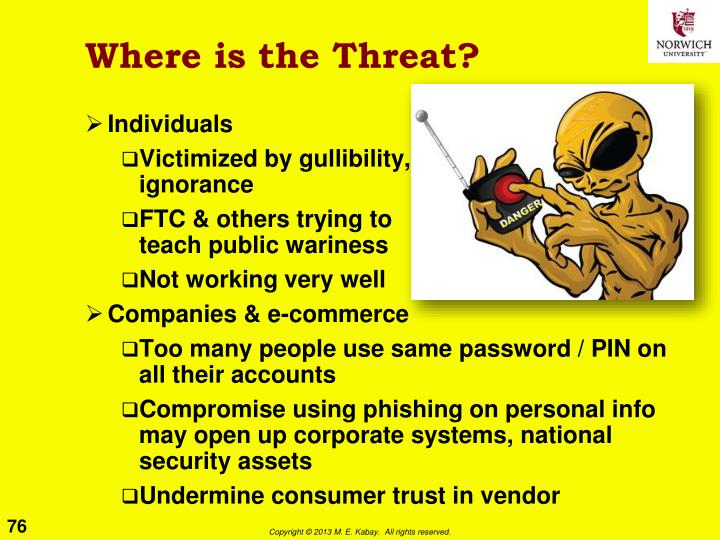 Where is the Threat?