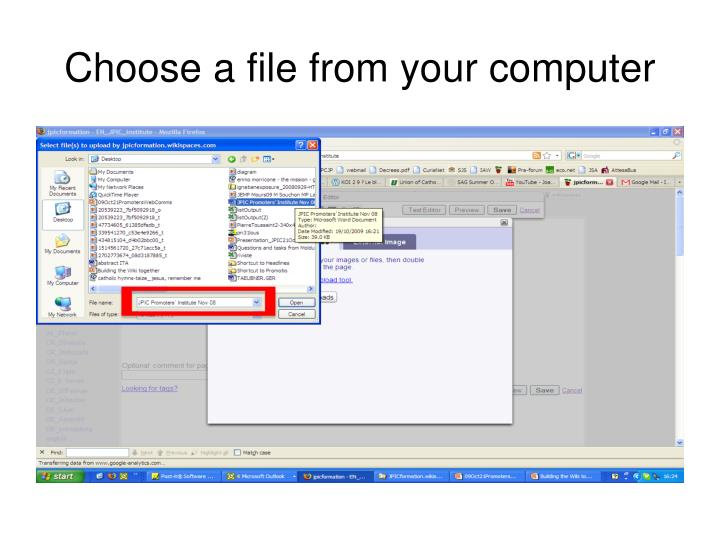 Choose a file from your computer
