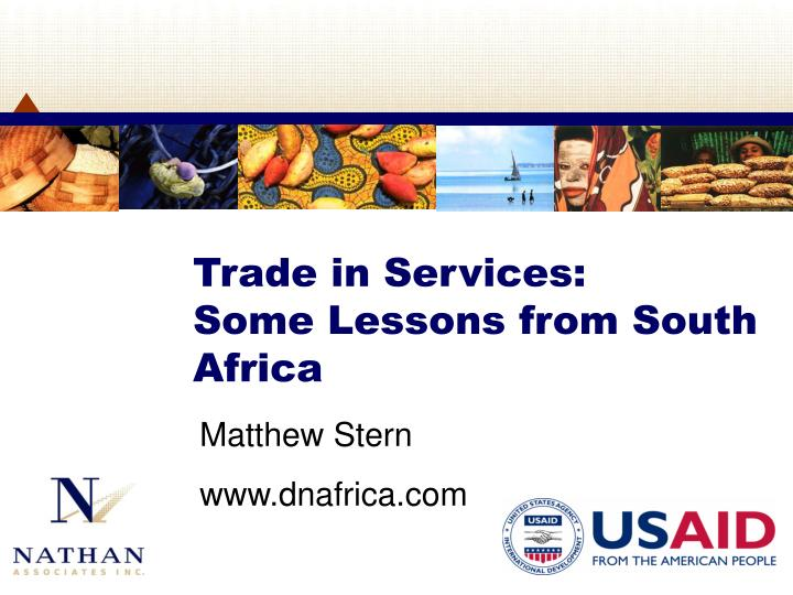 trade in services some lessons from south africa n.