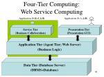 four tier computing web service computing