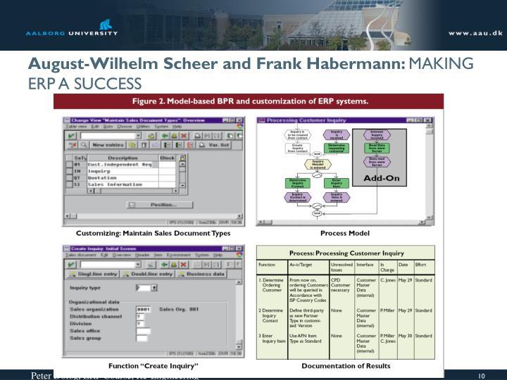 August-Wilhelm Scheer and Frank Habermann: