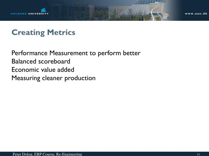 Creating Metrics