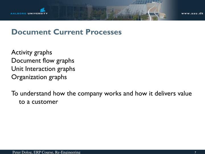 Document Current Processes