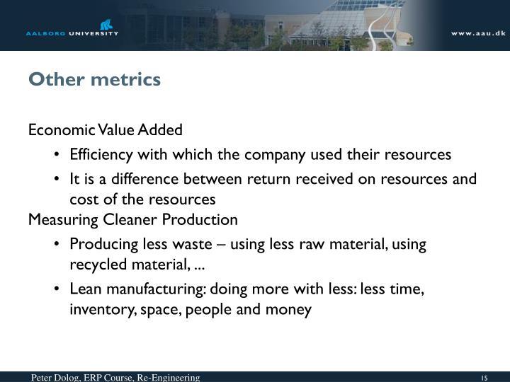 Other metrics