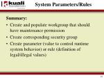 system parameters rules1