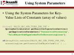 using system parameters1
