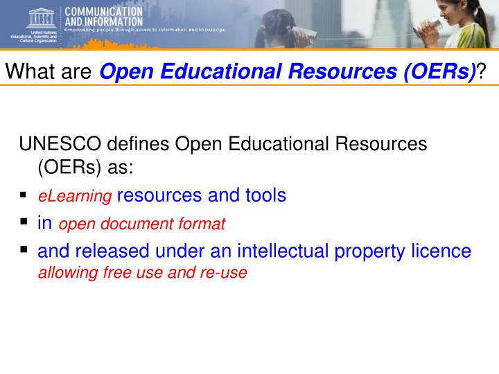 What are open educational resources oers