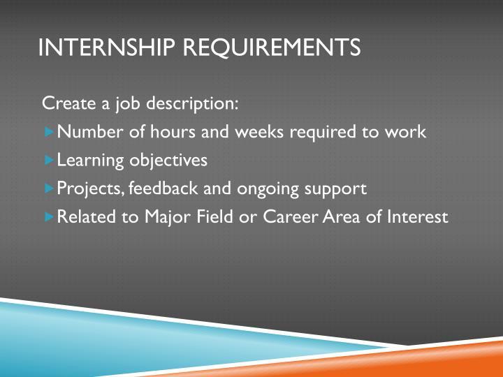Internship Requirements