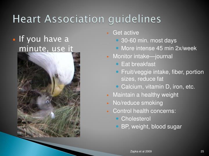 Heart Association guidelines