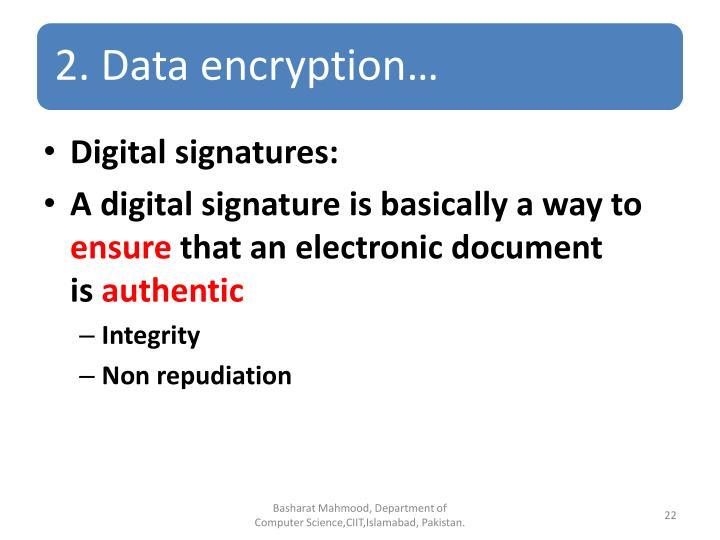 Digital signatures: